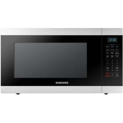 1.9 cu. ft. Countertop Microwave in Stainless Steel with Ceramic Enamel Interior