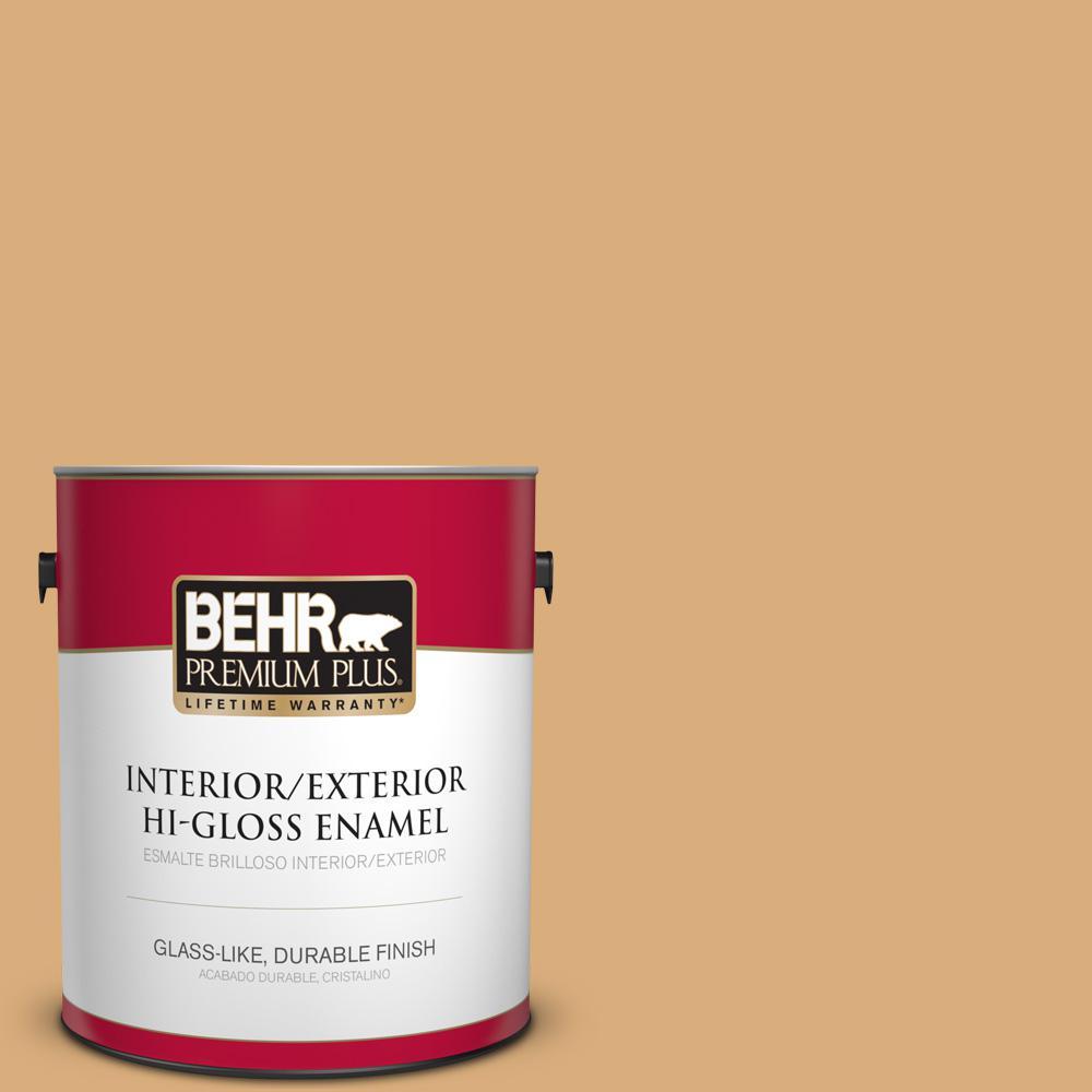 1 gal. #PPU6-05 Cork Hi-Gloss Enamel Interior/Exterior Paint
