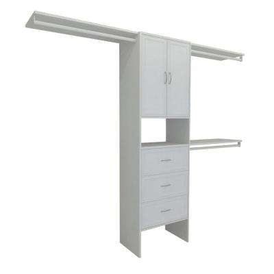 Selectives 83 in. H x 120 in. W x 14.5 in. D Premium Closet System in White