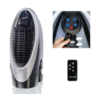 300 CFM 4-Speed Indoor Portable Evaporative Air Cooler (Swamp Cooler) with Remote Control for 175 sq. ft.