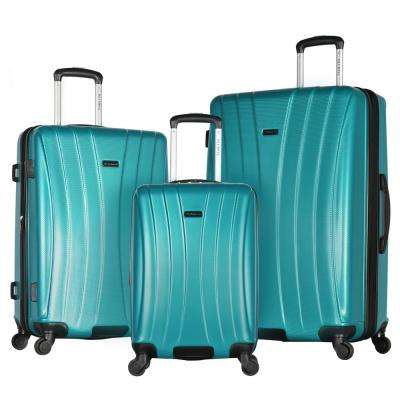 Brighton 3-Piece Teal Expandable Hardcase Spinner Set