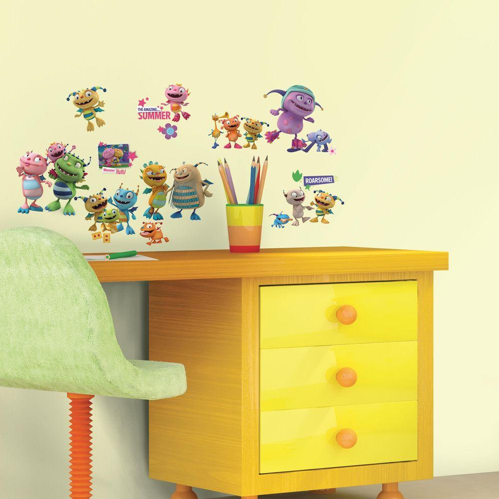 RoomMates 5 in. x 11.5 in. Henry Hugglemonster 23-Piece Peel and ...