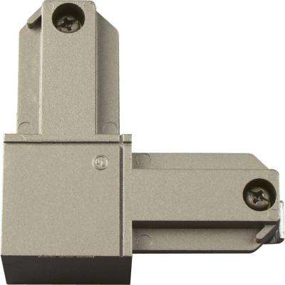 Alpha Trak Brushed Nickel Track Lighting L Connector - Inside Polarity Accessory