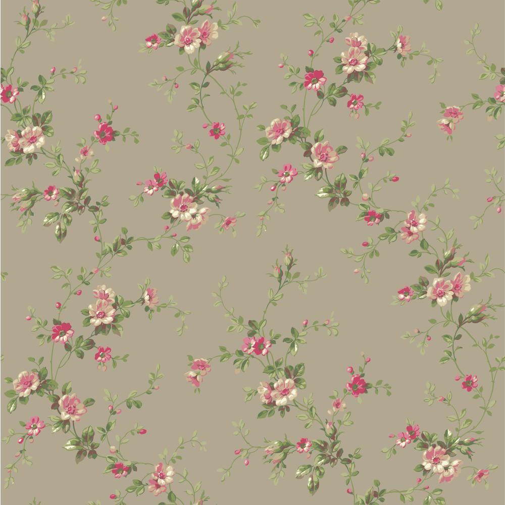 York Wallcoverings Casabella II Floral Trail Wallpaper