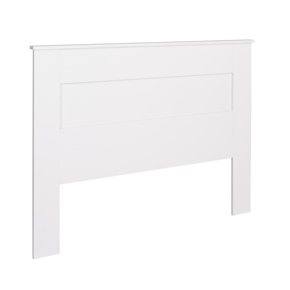 White Queen Flat Panel Headboard