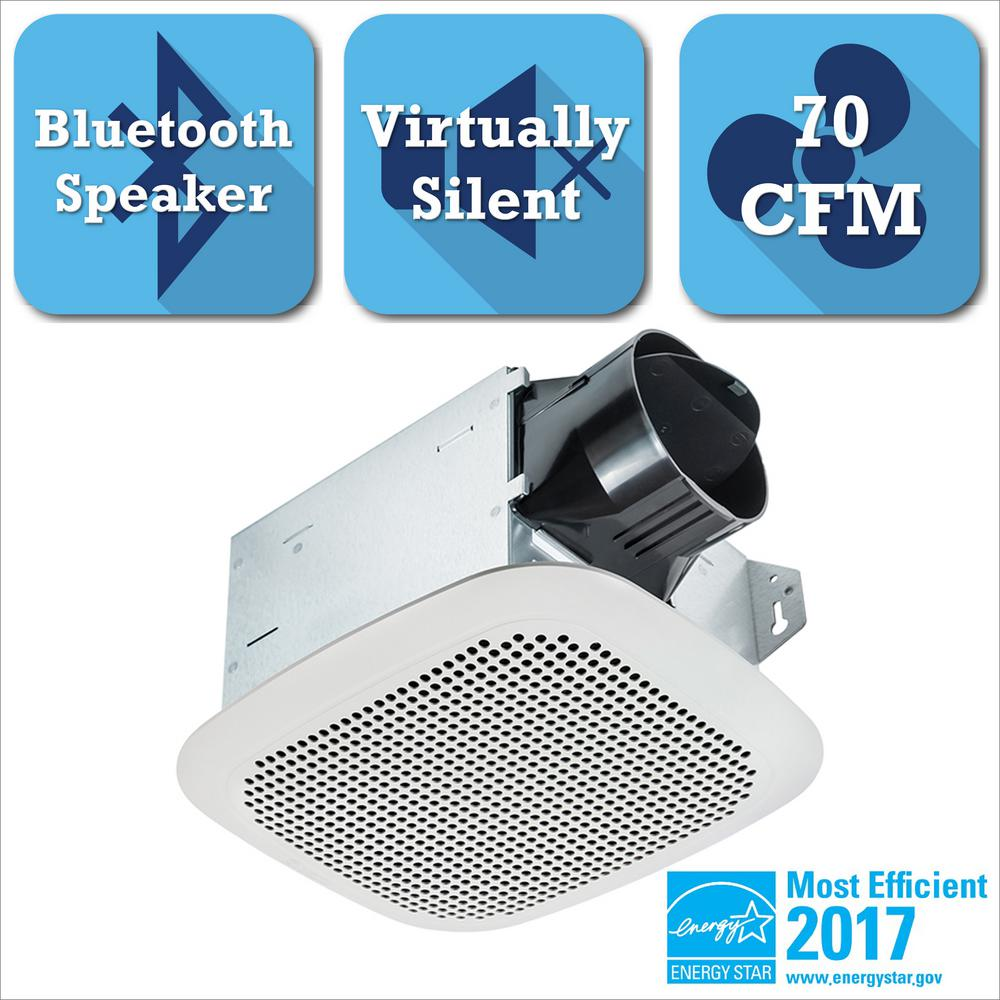 Integrity Series 70 CFM Ceiling Bathroom Exhaust Fan With Bluetooth Speaker