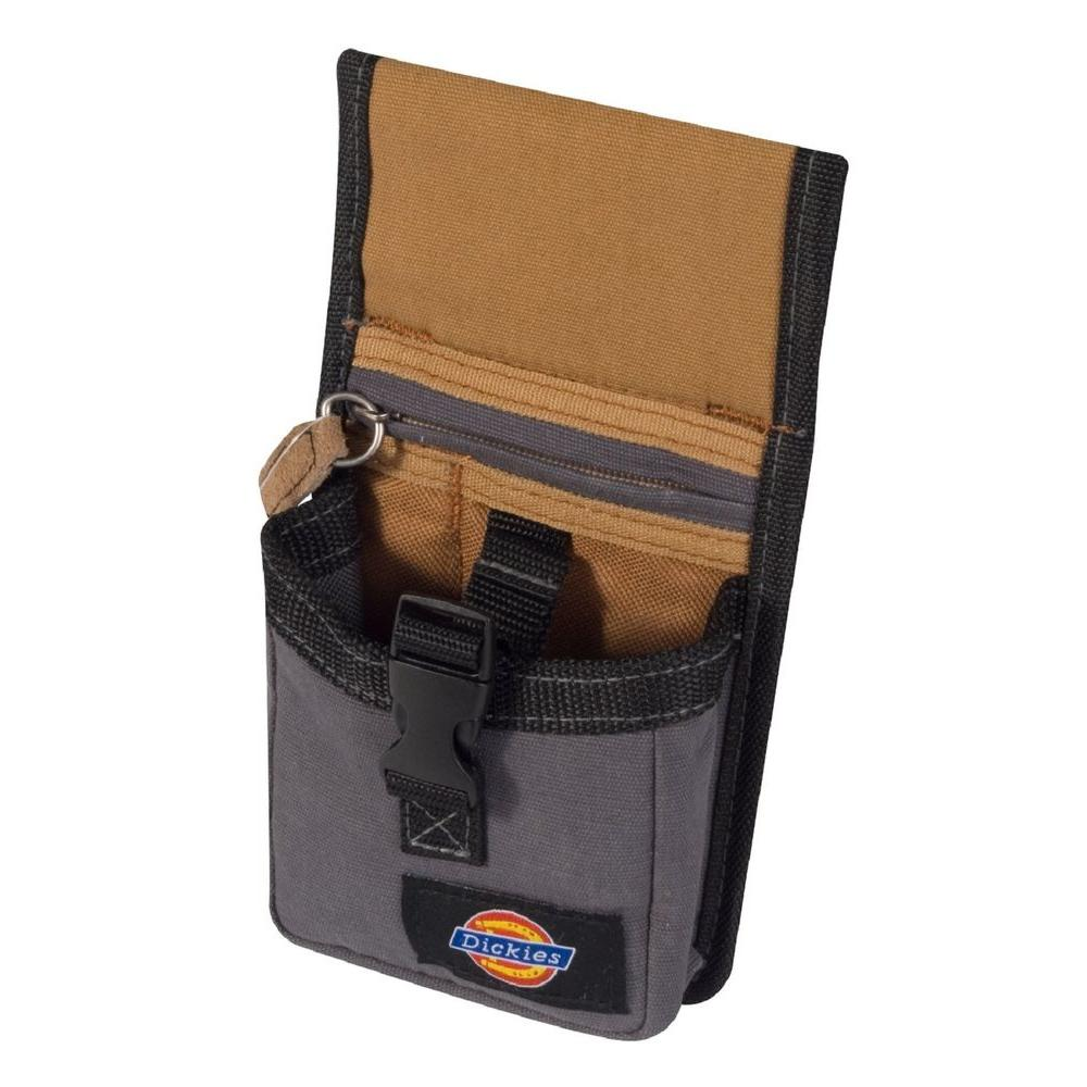 2-Pocket Quick-Release Tape Measure Pouch / Tool Holder, Tan