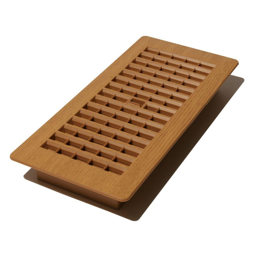 Decor Grates 4 In X 10 In Plastic Floor Register In Oak