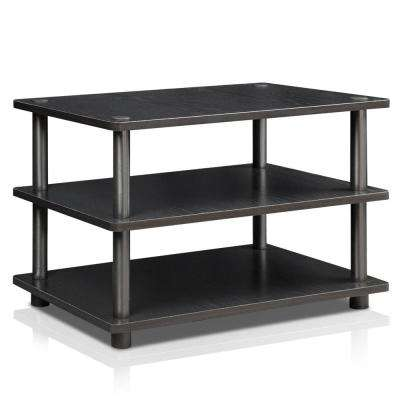 Turn-N-Tube Black 3-Shelf TV Stand