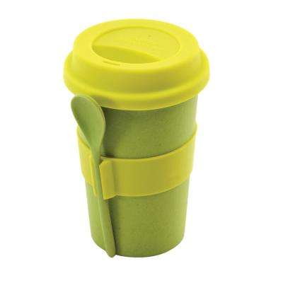 CooknCo Coffee Mug with Spoon in Green