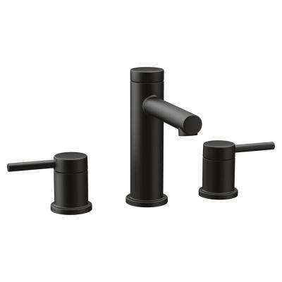 Align 8 in. Widespread 2-Handle Bathroom Faucet Trim Kit in Matte Black (Valve Not Included)