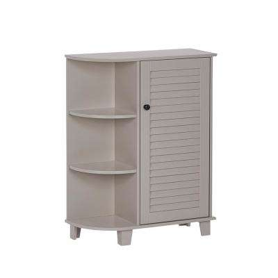 Ellsworth 23-5/8 in. W x 31-1/10 in. H Bathroom Linen Storage Floor Cabinet with Side Shelves in Taupe