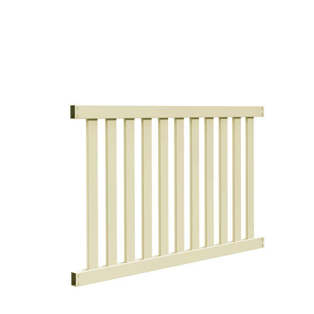 Colorado 4 ft. H x 6 ft. W Sand Vinyl Fence
