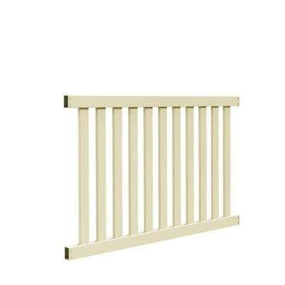 Colorado 4 ft. H x 6 ft. W Sand Vinyl Fence Panel Kit