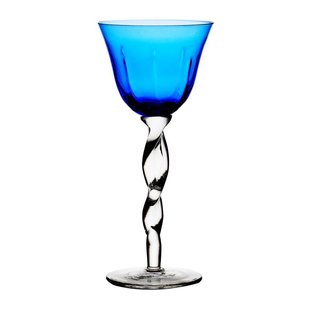 Adriana 12 oz. Wine Glass, Cobalt (Set of 4)