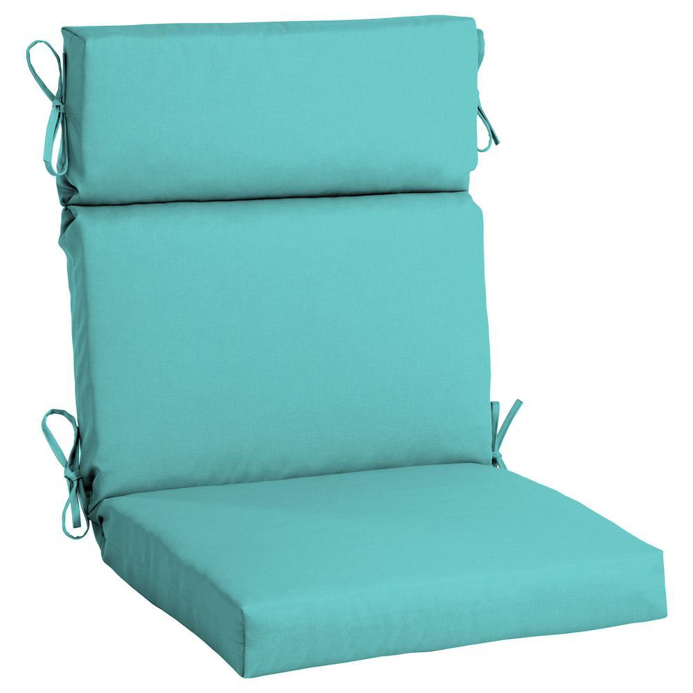 21.5 x 44 Sunbrella Canvas Aruba High Back Outdoor Dining Chair Cushion