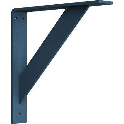 2 in. x 12 in. x 12 in. Steel Hammered Light Blue Traditional Bracket