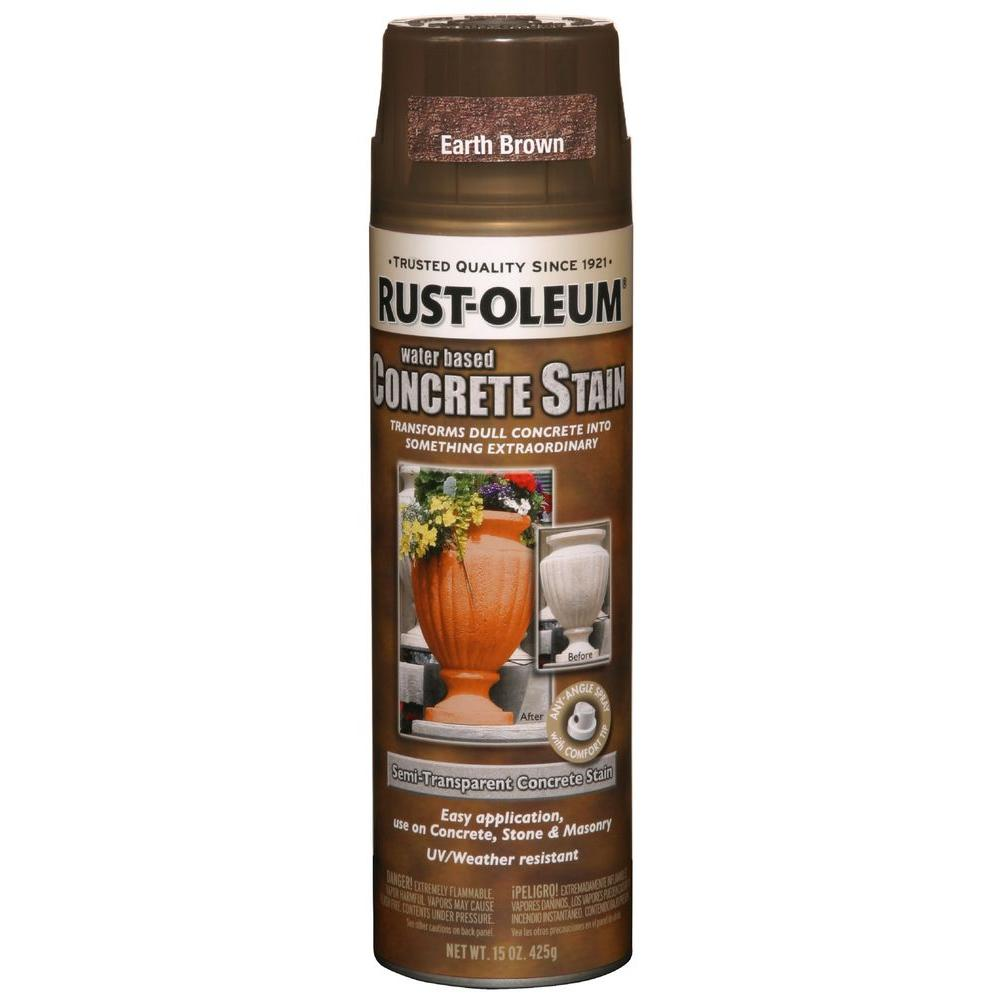 Rust-Oleum Concrete Stain 15 oz. Earth Brown Spray Paint (Case of 6)
