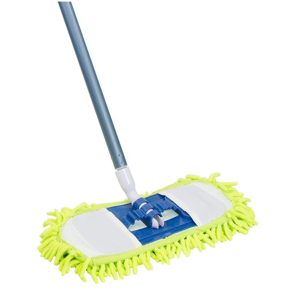 Quickies 14 in. Soft 'n' Swivel Microfiber/Chenille Dust Mop