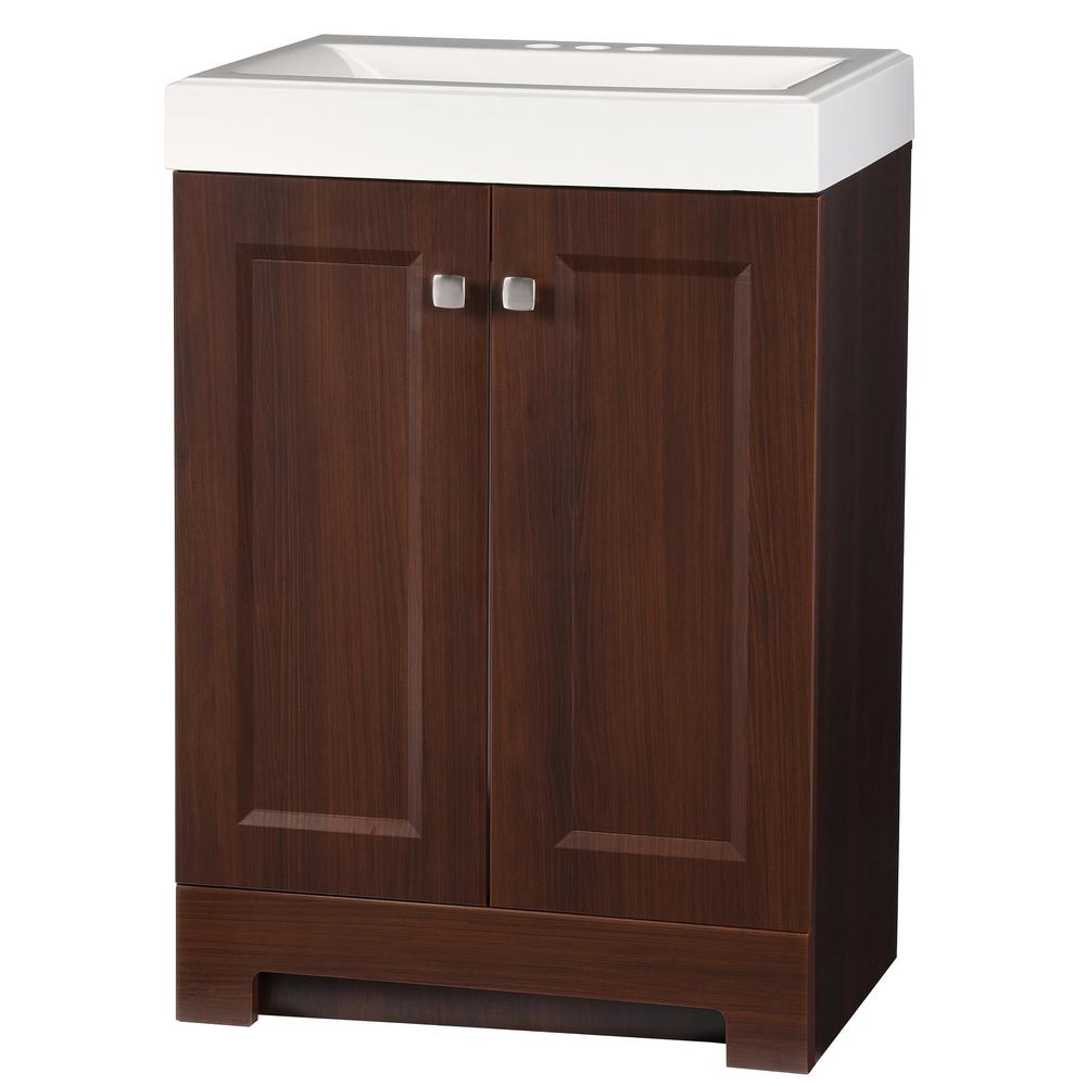 Glacier Bay Shaila 24 5 In W Bath Vanity In Truffle With