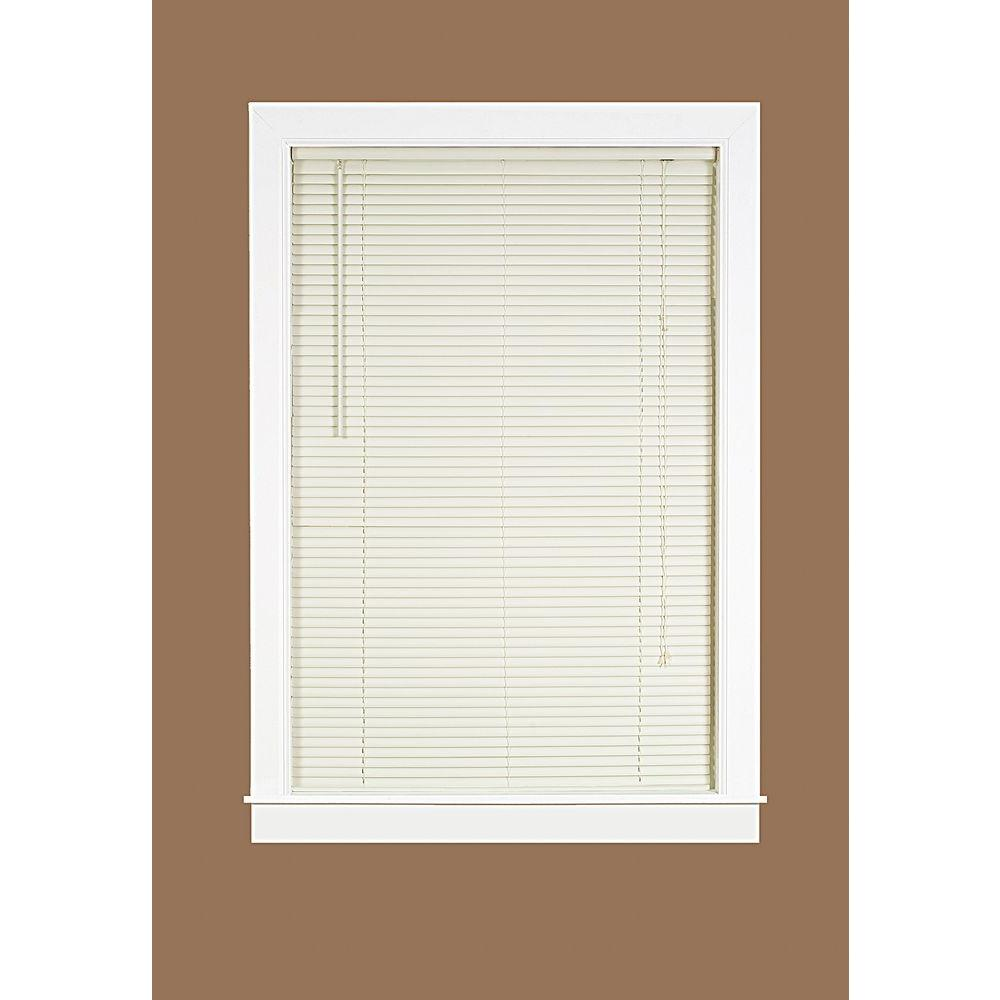 34 inch blinds faux wood blinds room darkening vinyl mini blind 34 in 64 lds3464va06 the home depot deluxe sundown vanilla in