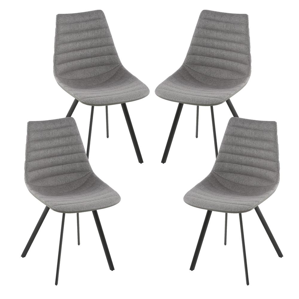 Mendonica Dark Grey Dining Chair (Set of 4)