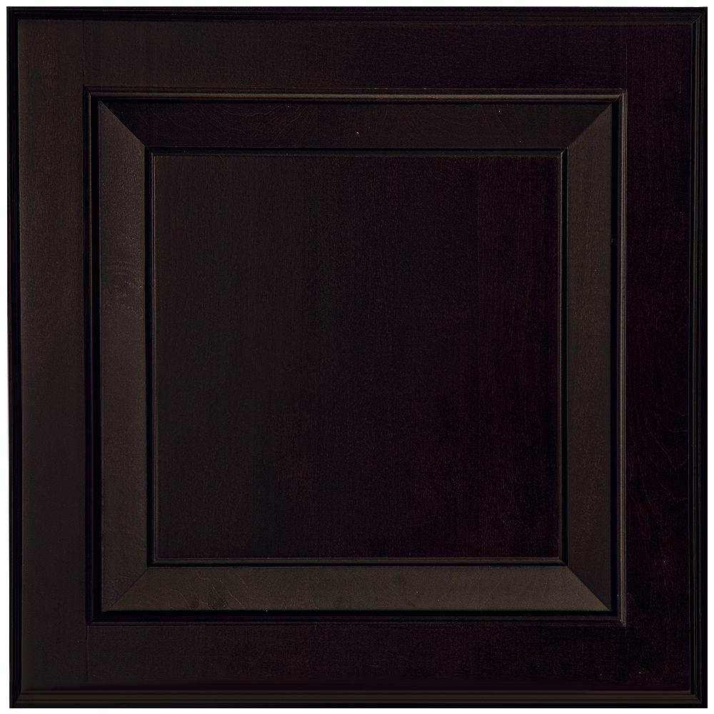 American woodmark 14 1 2x14 9 16 in cabinet door sample for Black cabinet with doors