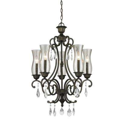 Havana 5-Light Golden Bronze Chandelier