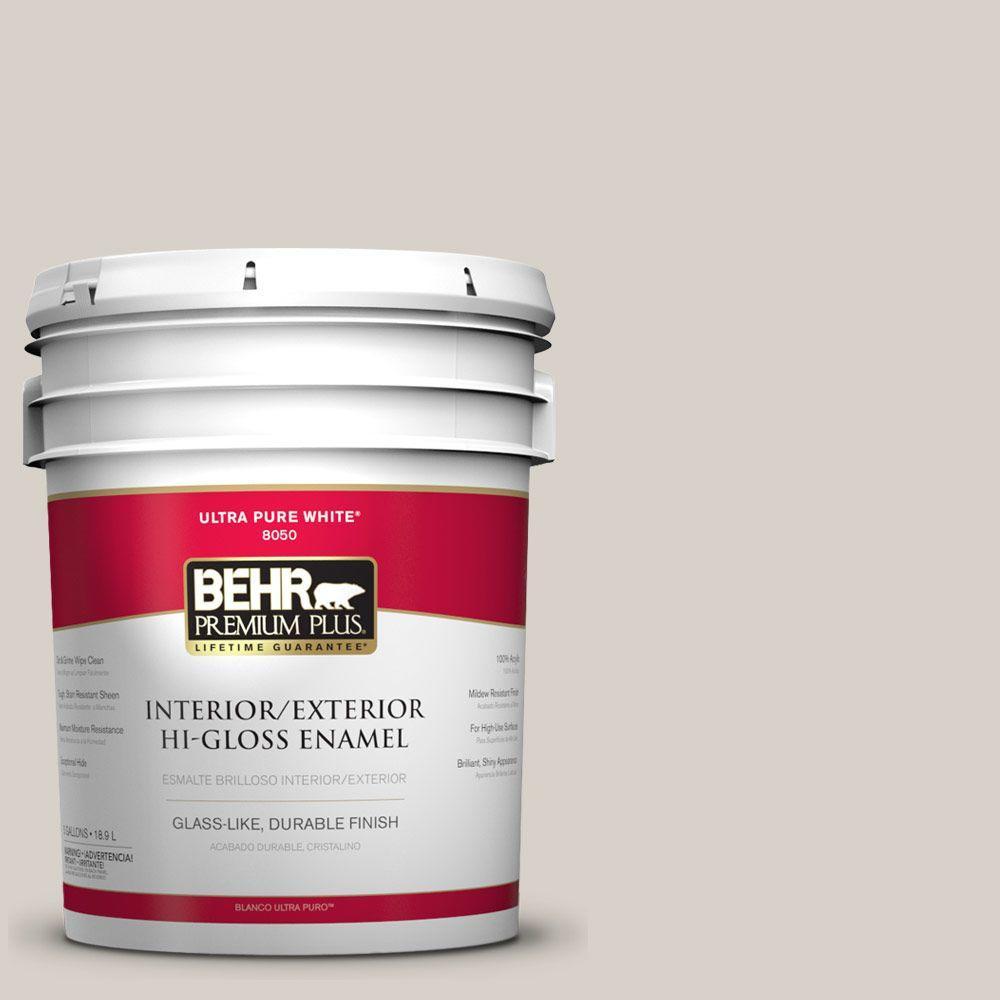 BEHR Premium Plus 5-gal. #T14-7 Offbeat Hi-Gloss Enamel Interior/Exterior Paint