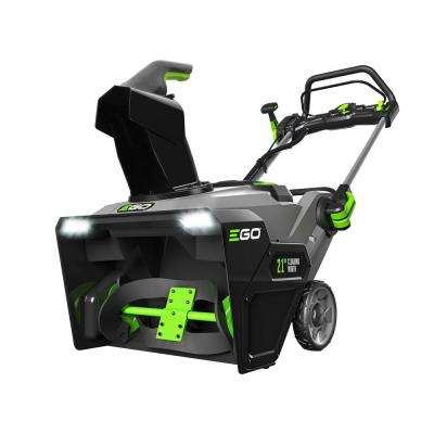 21 in. 56-Volt Lithium-ion Single Stage Electric Snow Blower with (2) 5.0Ah Batteries and Charger Included