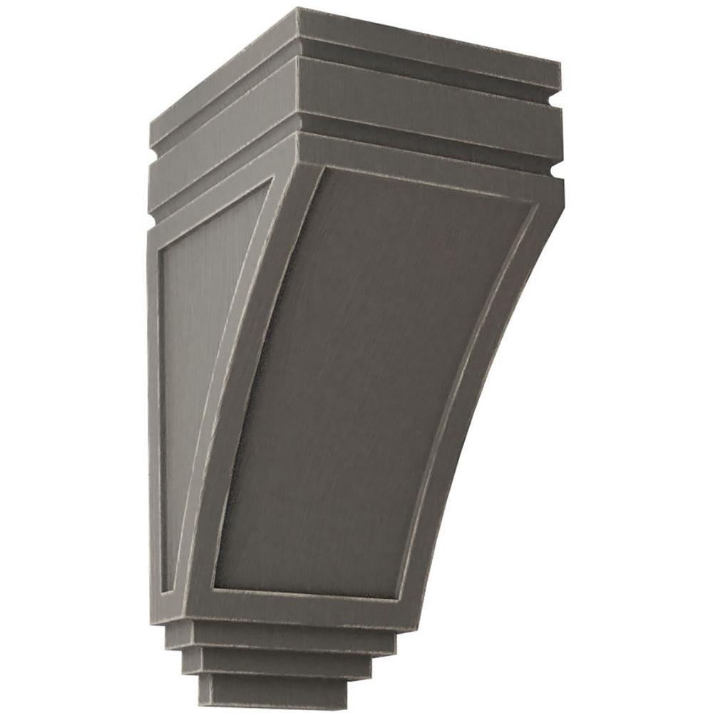 5 in. x 10-1/2 in. x 6 in. Reclaimed Grey Medium San Juan Wood Vintage Decor Corbel