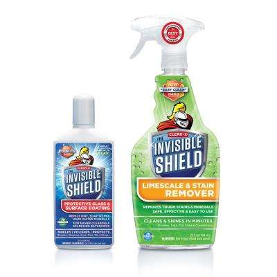 Invisible Shield Tub and Shower Glass Lime Scale Cleaner + Protectant by Clean-X