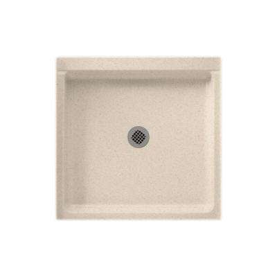 36 in. x 36 in. Solid Surface Single Threshold Shower Floor in Bermuda Sand