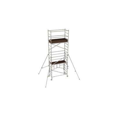 18 ft. x 5.4 ft. x 2.6 ft. Easy-Set Scaffold Tower with Guardrails and Outriggers with 792 lb. Load Capacity