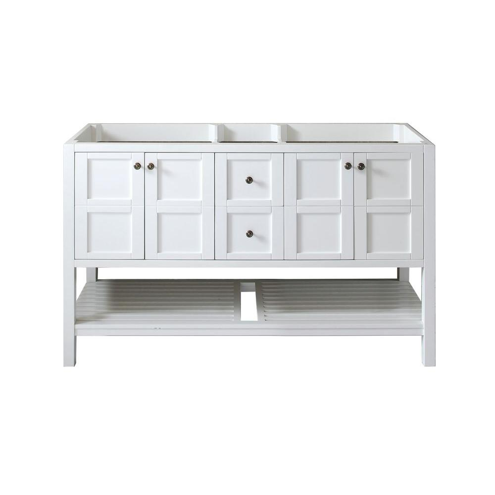 Virtu USA Winterfell 60 in. W Bath Vanity Cabinet Only in White-ED ...