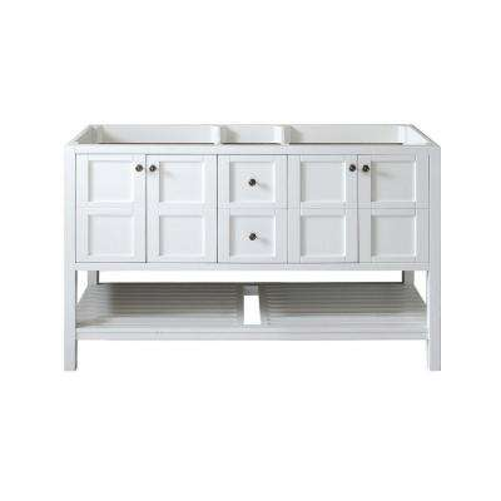Winterfell 60 in. W x 22 in. D x 35.99 in. H Vanity Cabinet Only in White