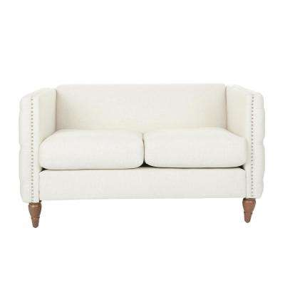 Evie Tufted Loveseat in Linen with Coffee Legs (2 per Carton)