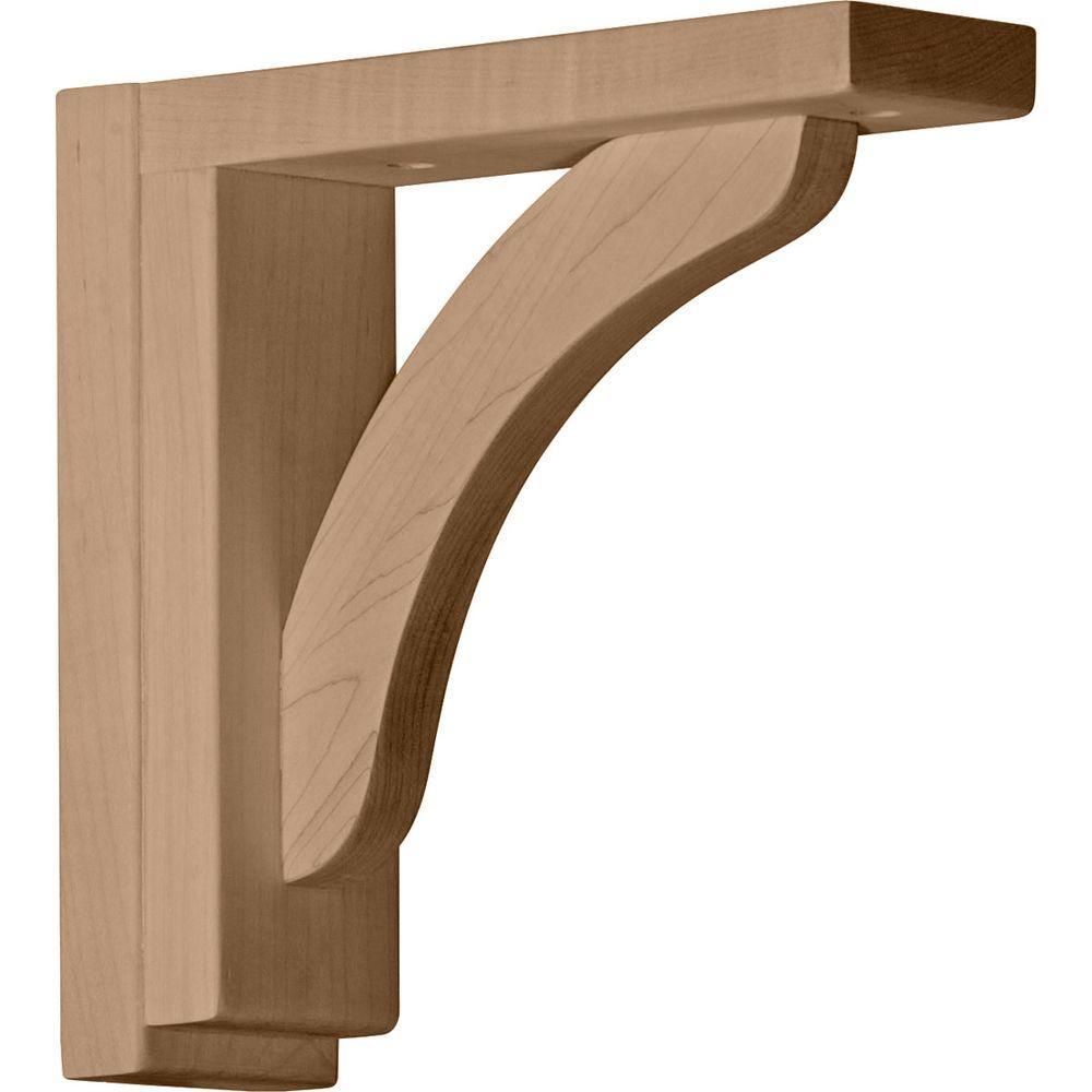 Ekena Millwork 2-1/2 in. x 8-3/4 in. x 8-1/4 in. Maple Reece Shelf Bracket