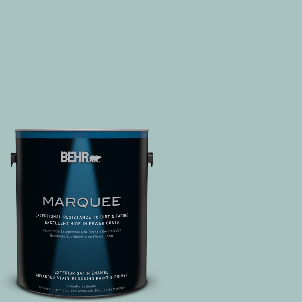 1 gal. #T17-08 Polished Aqua Satin Enamel Exterior Paint