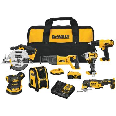 20-Volt MAX Cordless Combo Kit (7-Tool) with (1) 20-Volt 4.0Ah Battery, (1) 20-Volt 2.0Ah Battery & Charger