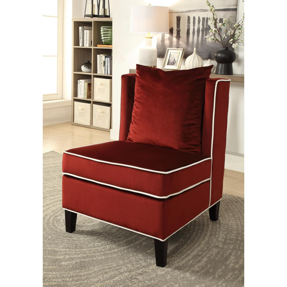 Strange Acme Furniture Ozella Accent Chair In Red 59572 The Home Depot Gmtry Best Dining Table And Chair Ideas Images Gmtryco
