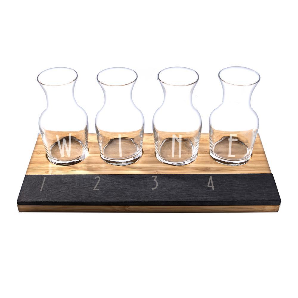 6.5 oz. Bamboo and Slate Wine Tasting flight-2195WI-WINE - The Home ...