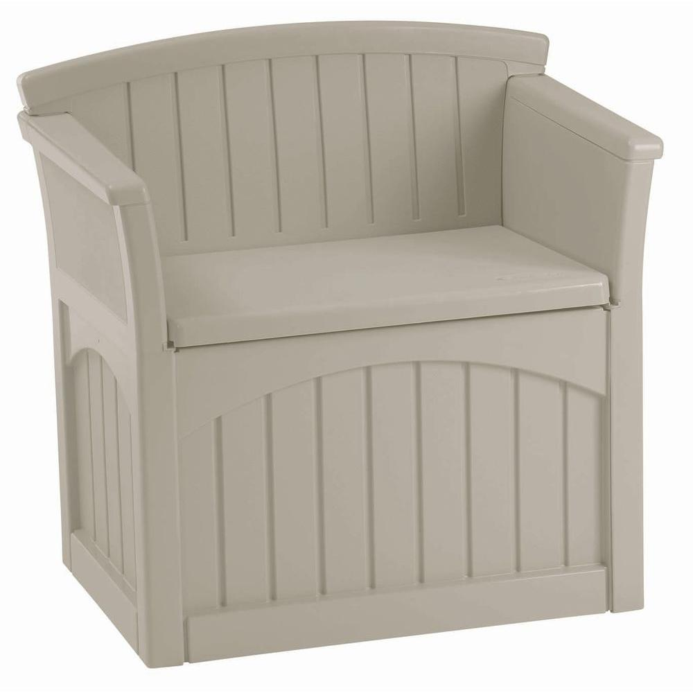 Patio Storage Seat  sc 1 st  Home Depot & Suncast 31 Gal. Patio Storage Seat-PB2600 - The Home Depot