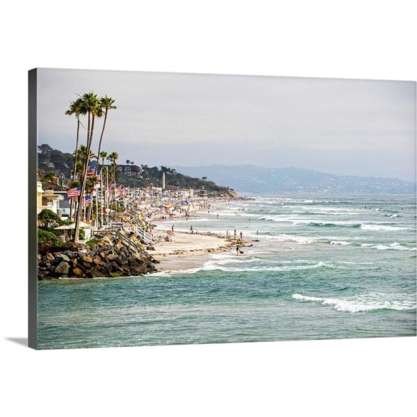 Greatbigcanvas La Jolla Coast San Diego California By Circle Capture Canvas Wall Art 2522831 24 36x24 The Home Depot