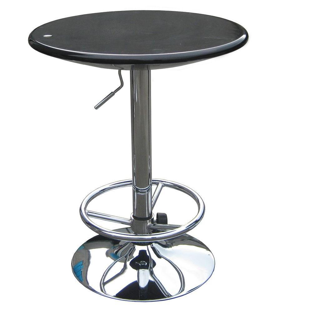 Boraam Luna Adjustable Pub Table in Black