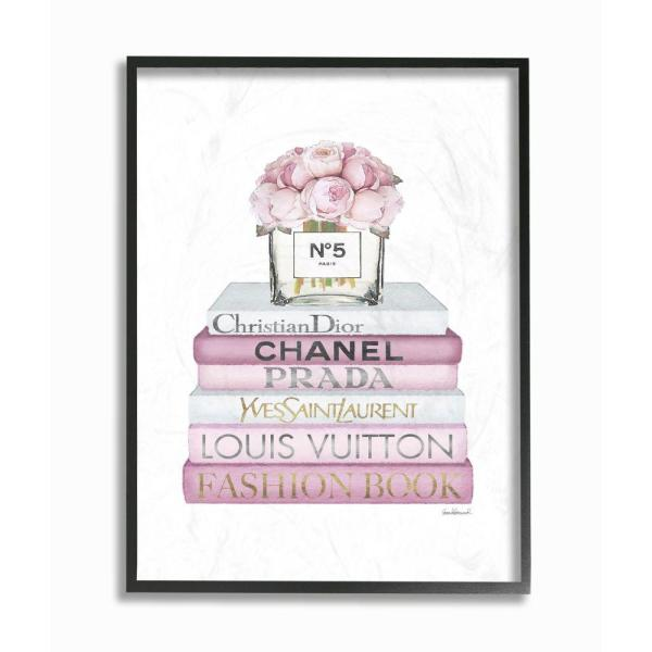 Stupell Industries Beauty Begins Fashion Designer Pink Inspirational Word Design By Ziwei Liframed Abstract Wall Art 14 In X 11 In Agp 219 Fr 11x14 The Home Depot