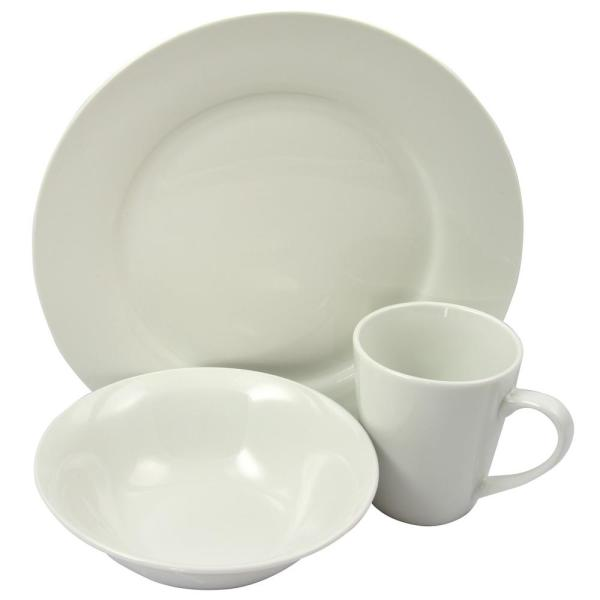 Gibson Home Noble Court 12-Piece White Dinnerware Set 985100535M
