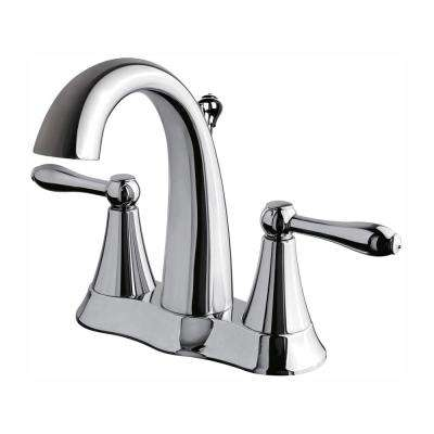 Transitional Collection 4 in. Centerset 2-Handle Bathroom Faucet in Chrome