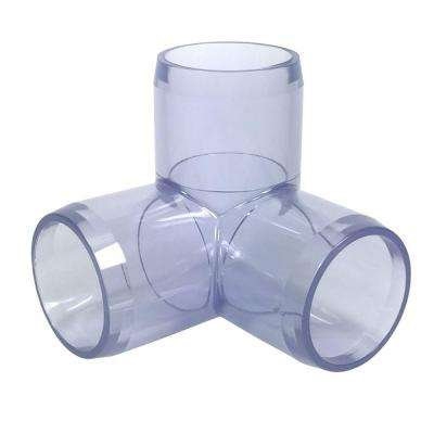 1/2 in. Furniture Grade PVC 3-Way Elbow in Clear