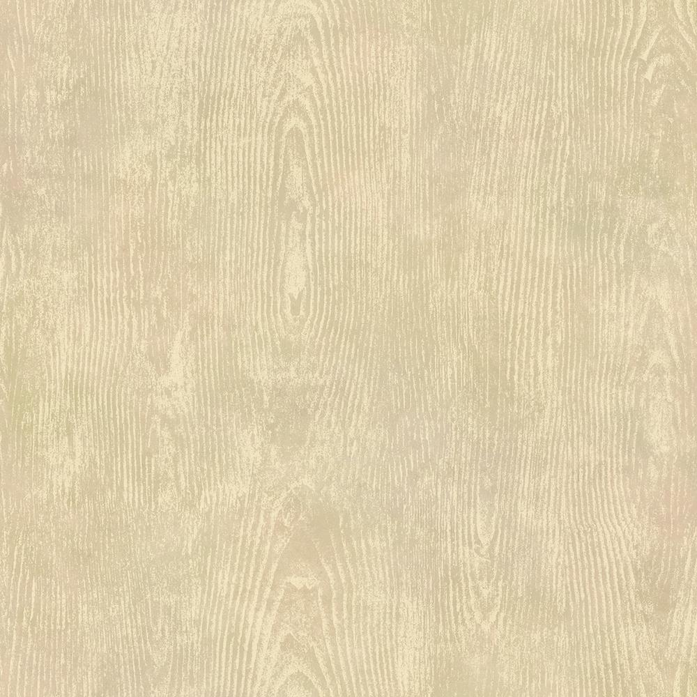 Washington wallcoverings brown and gray faux wood slats - Faux wood plank wallpaper ...
